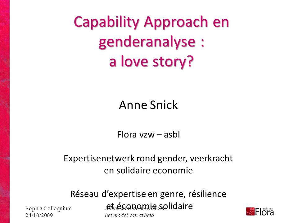 Capability Approach en genderanalyse : a love story
