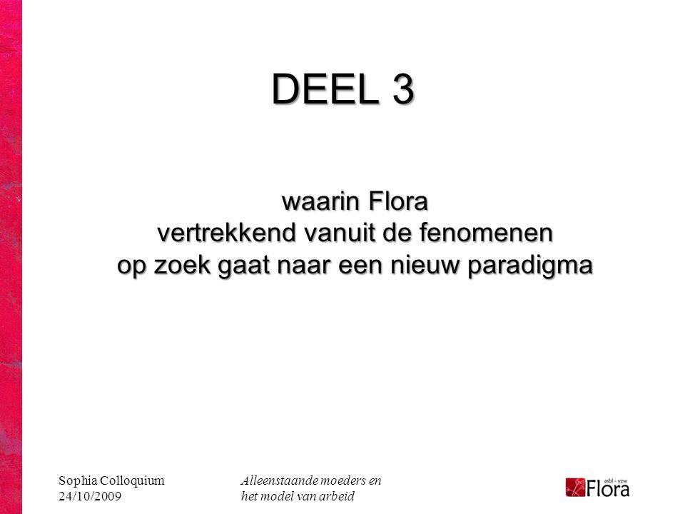 DEEL 3 waarin Flora vertrekkend vanuit de fenomenen op zoek gaat naar een nieuw paradigma. Sophia Colloquium 24/10/2009.
