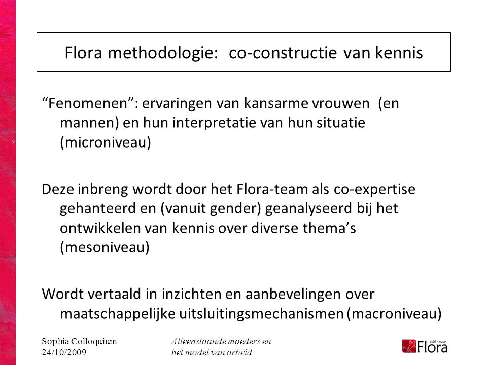 Flora methodologie: co-constructie van kennis
