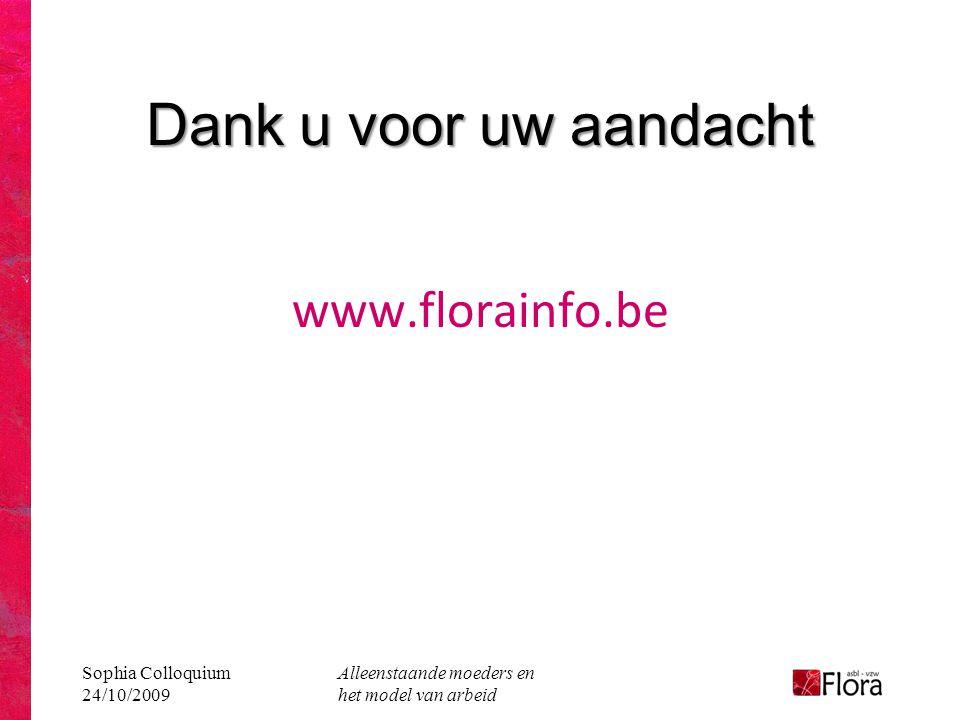 Dank u voor uw aandacht www.florainfo.be Sophia Colloquium 24/10/2009