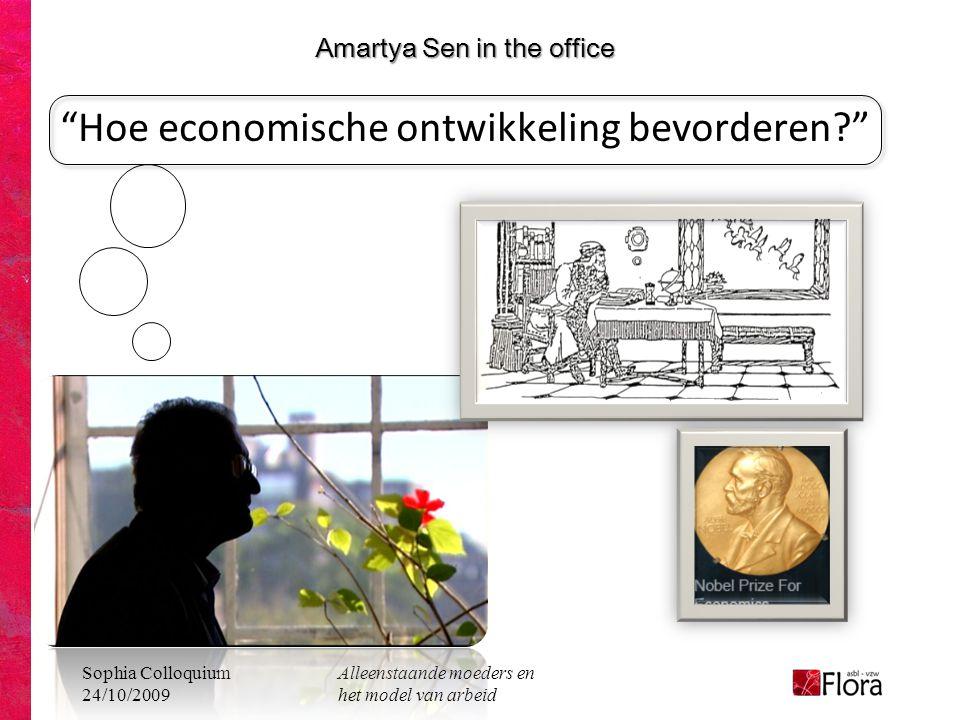 Amartya Sen in the office Hoe economische ontwikkeling bevorderen