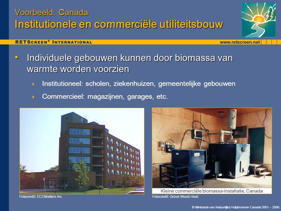 Voorbeeld: Canada Institutionele en commerciële utiliteitsbouw