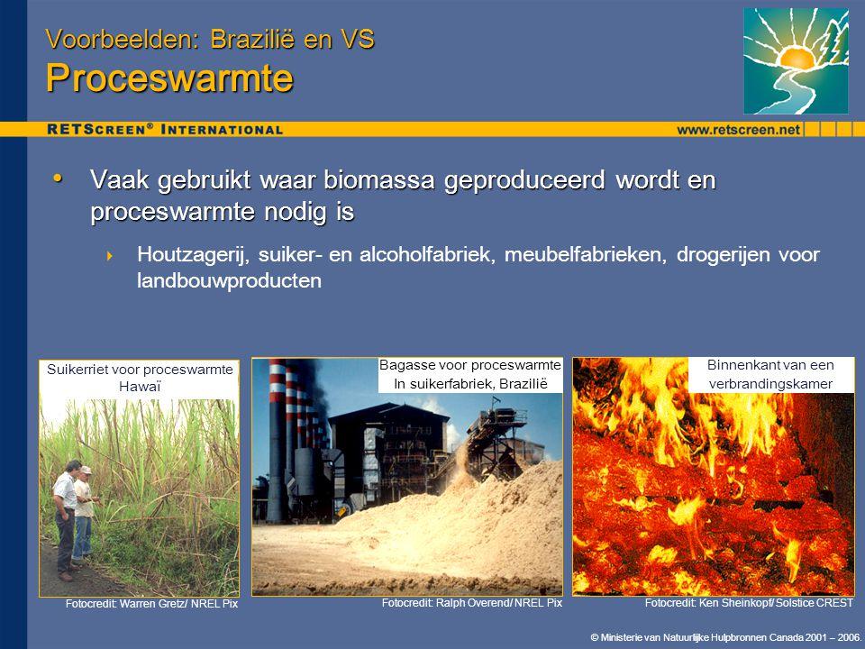 Voorbeelden: Brazilië en VS Proceswarmte