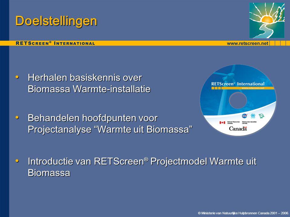 Doelstellingen Herhalen basiskennis over Biomassa Warmte-installatie