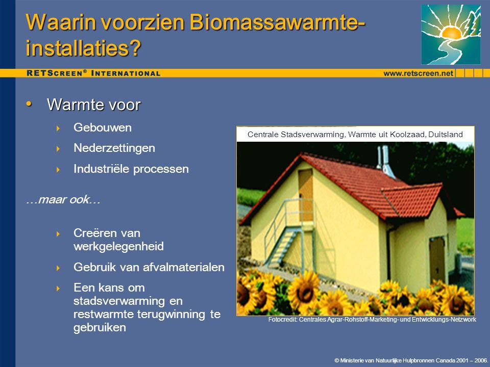 Waarin voorzien Biomassawarmte-installaties