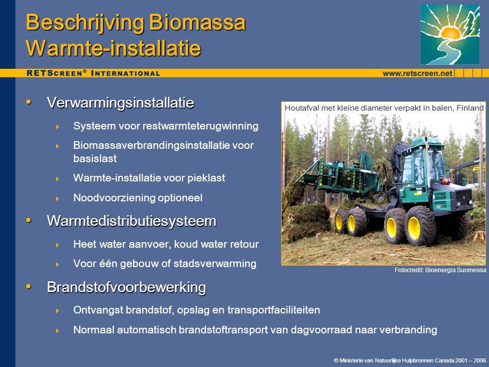 Beschrijving Biomassa Warmte-installatie