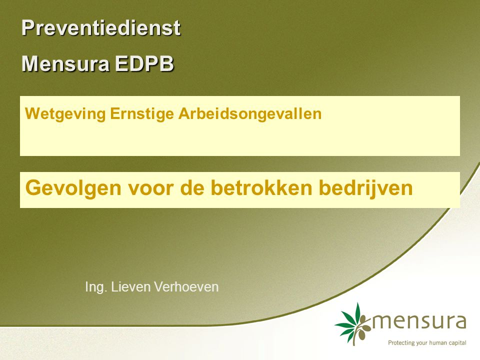Preventiedienst Mensura EDPB