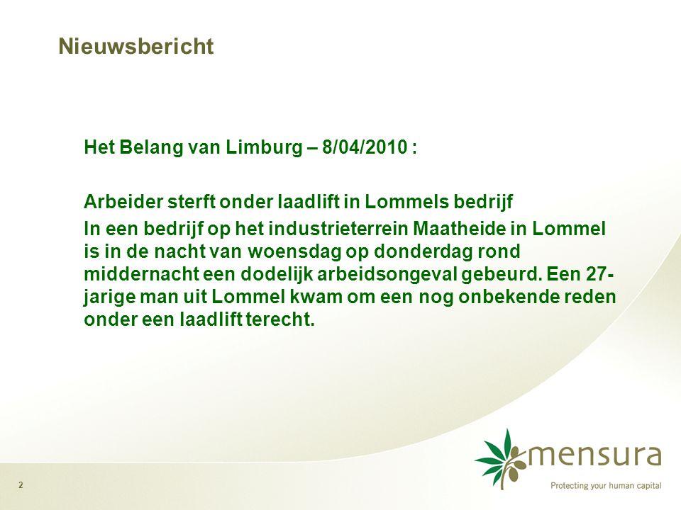 Nieuwsbericht Arbeider sterft onder laadlift in Lommels bedrijf