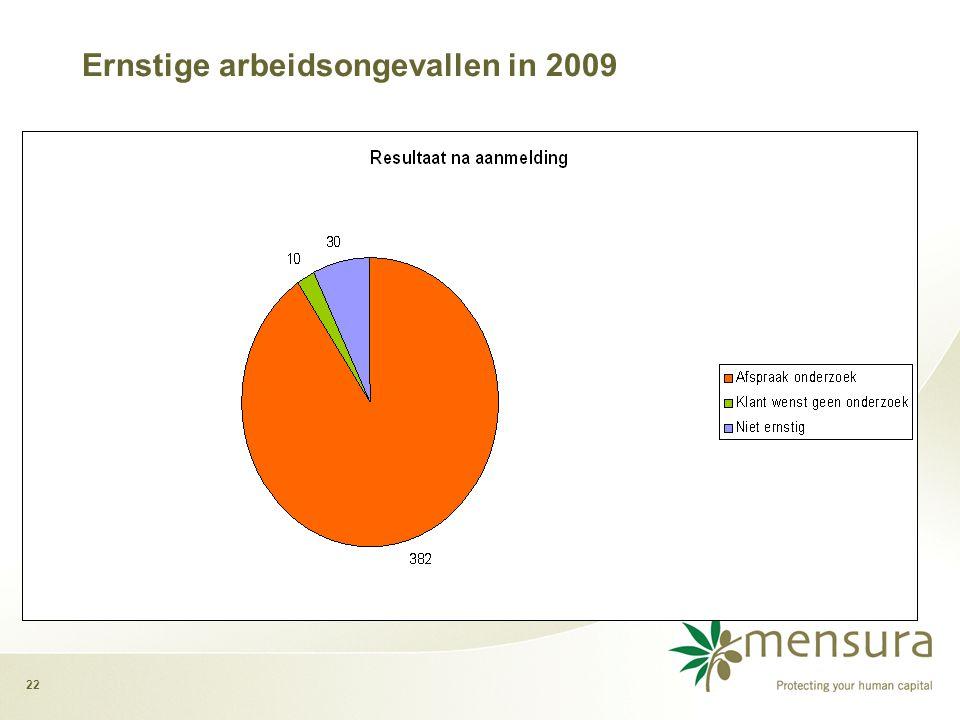Ernstige arbeidsongevallen in 2009