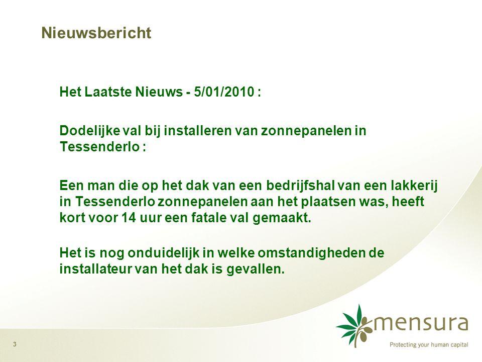 Nieuwsbericht Het Laatste Nieuws - 5/01/2010 :