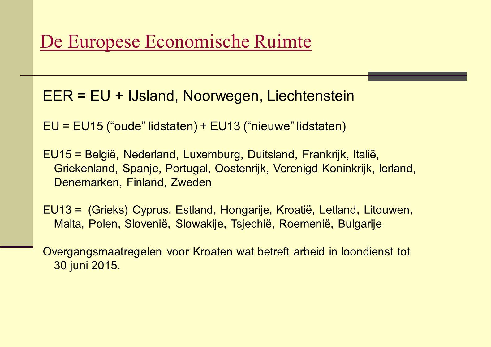 De Europese Economische Ruimte
