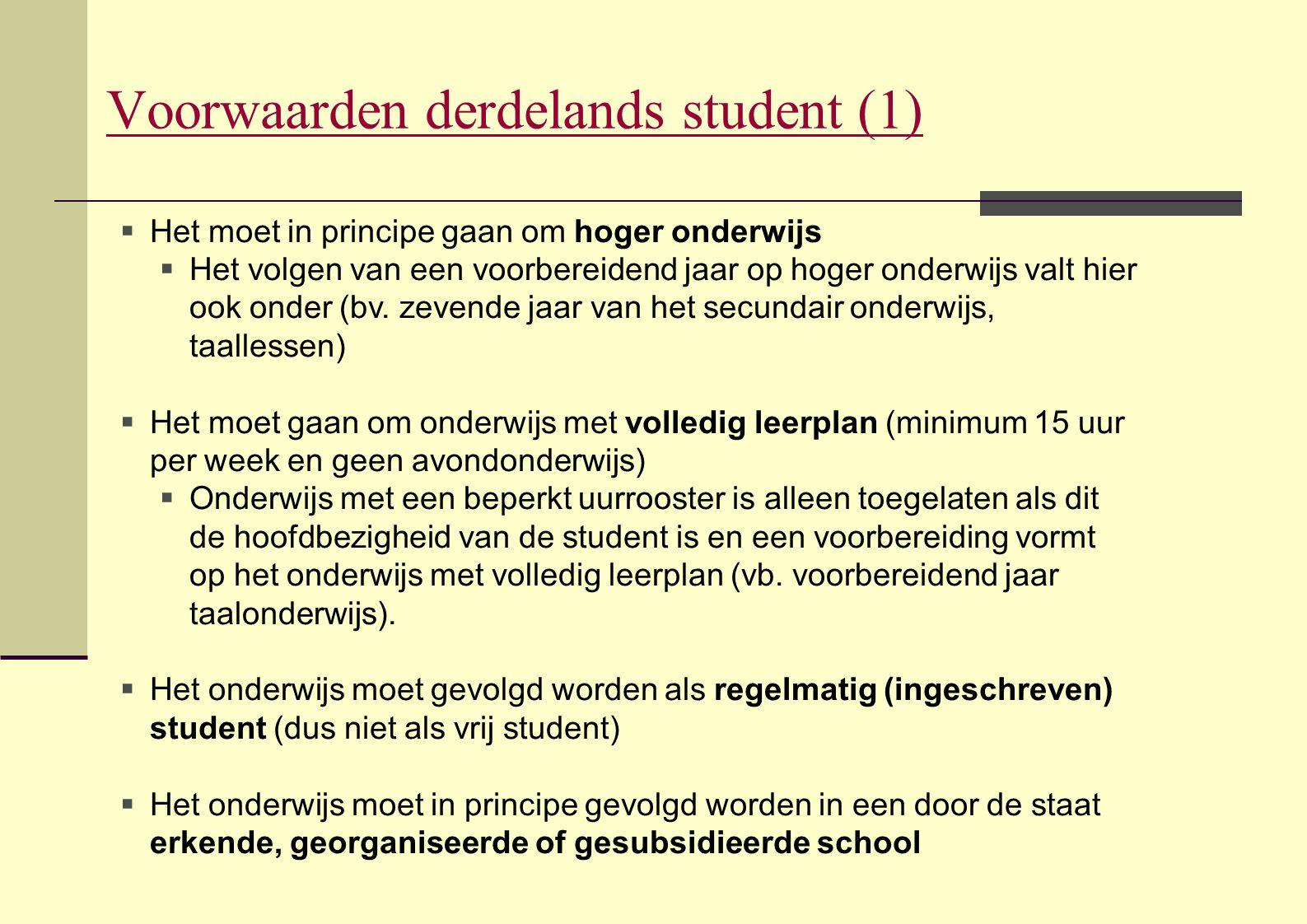 Voorwaarden derdelands student (1)