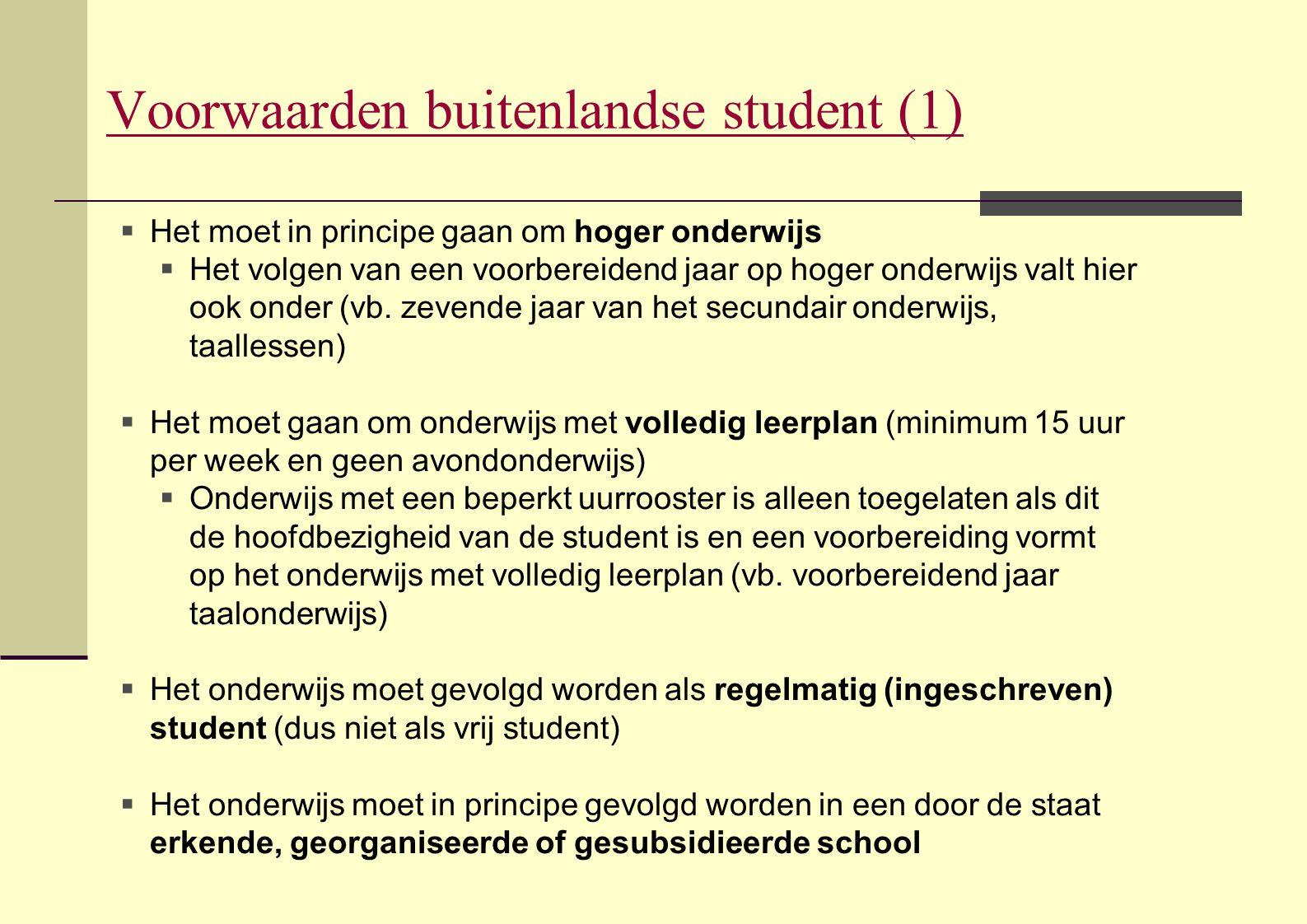 Voorwaarden buitenlandse student (1)