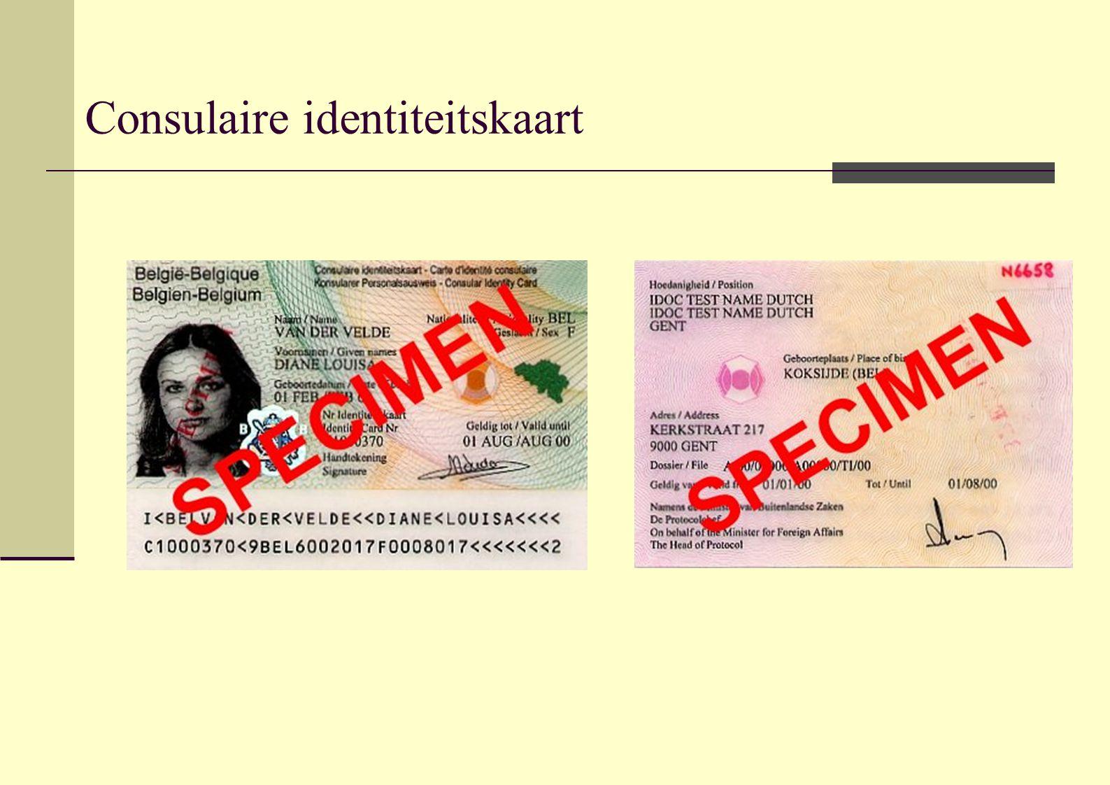 Consulaire identiteitskaart