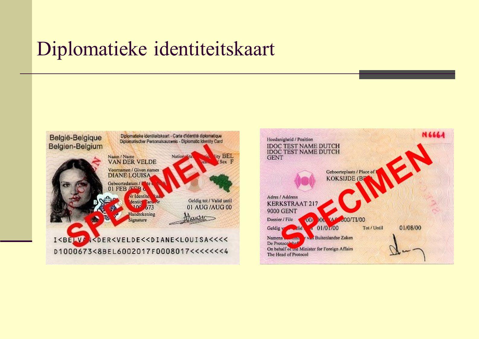 Diplomatieke identiteitskaart