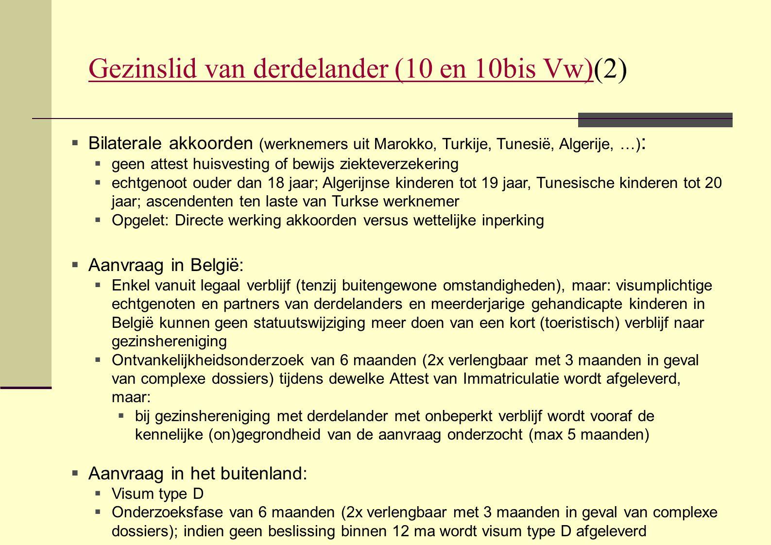 Gezinslid van derdelander (10 en 10bis Vw)(2)