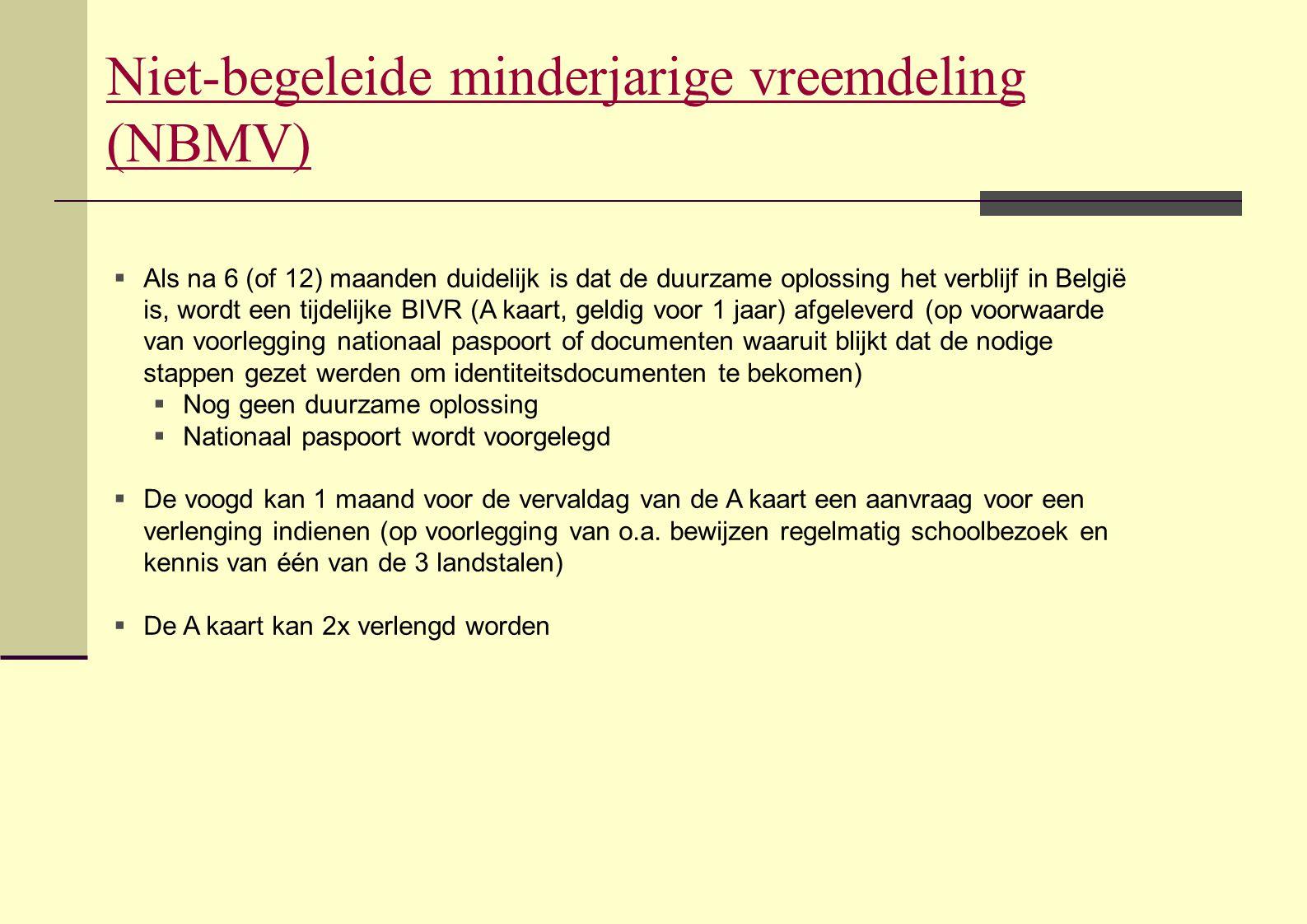 Niet-begeleide minderjarige vreemdeling (NBMV)