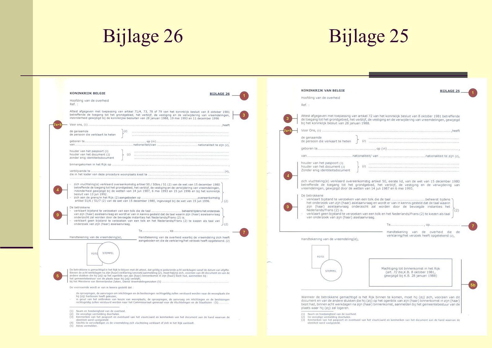 Bijlage 26 Bijlage 25