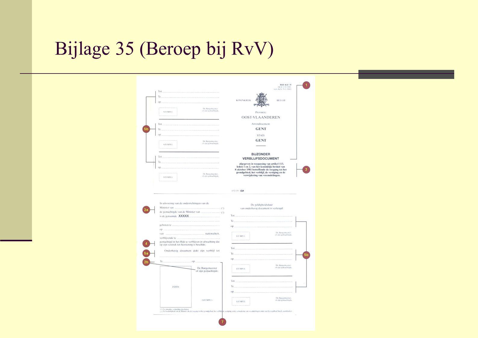 Bijlage 35 (Beroep bij RvV)