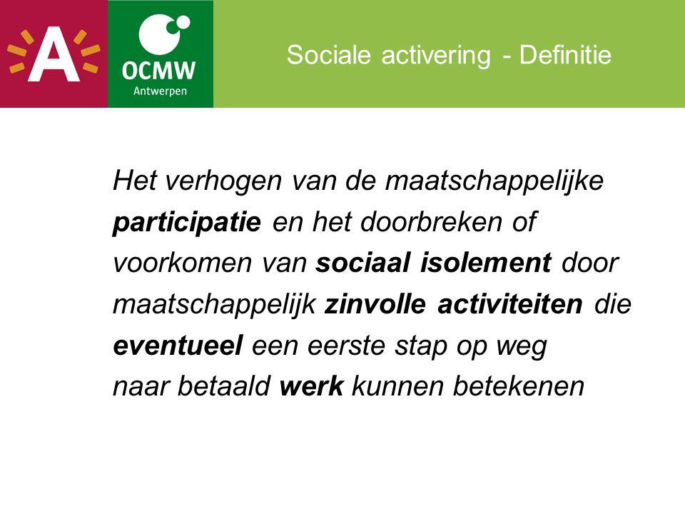 Sociale activering - Definitie