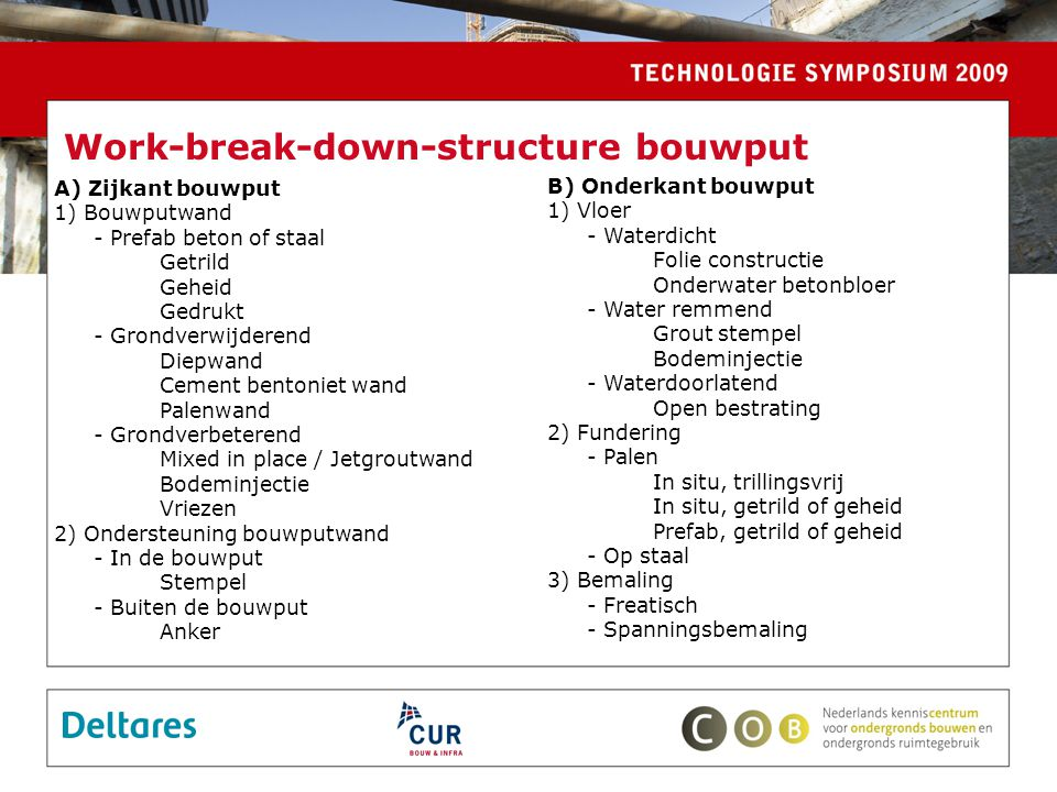 Work-break-down-structure bouwput