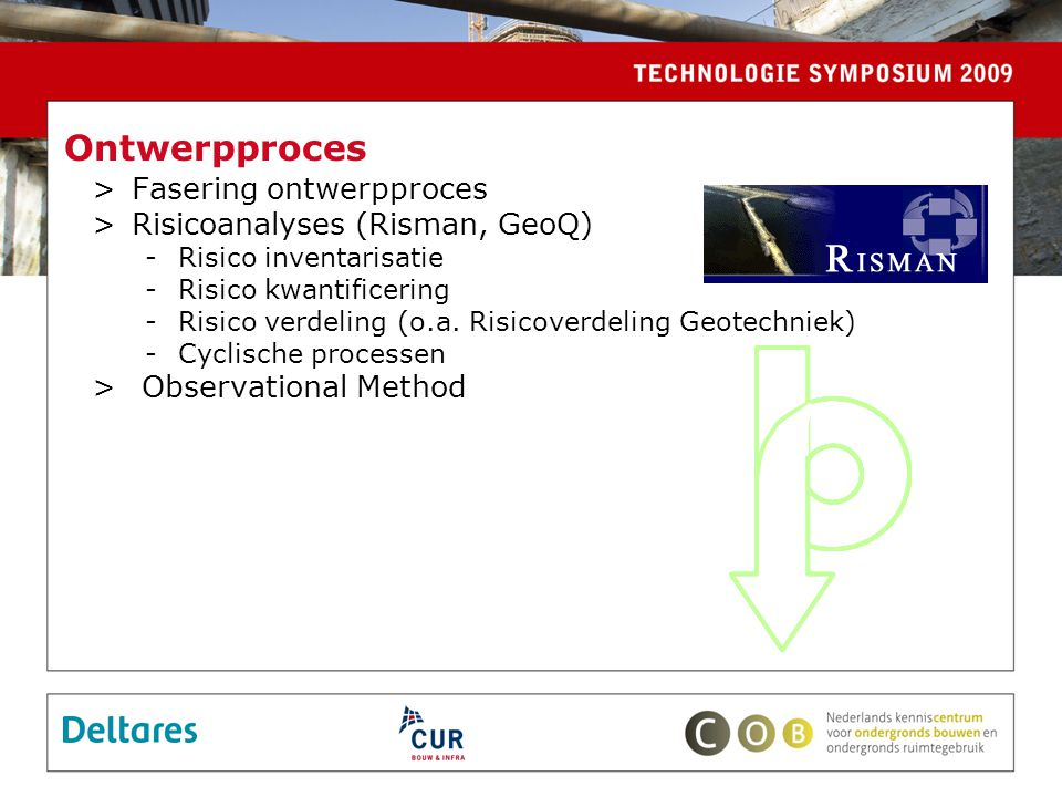 Ontwerpproces Fasering ontwerpproces Risicoanalyses (Risman, GeoQ)