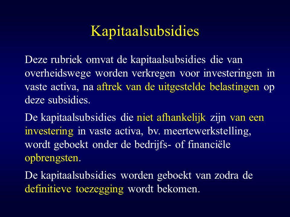 Kapitaalsubsidies