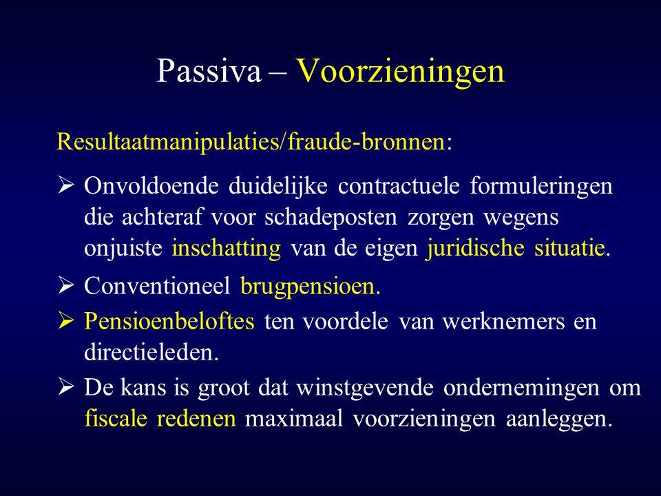Passiva – Voorzieningen