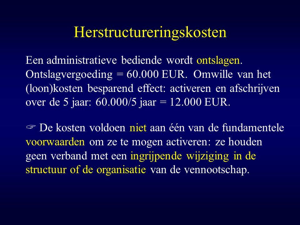 Herstructureringskosten