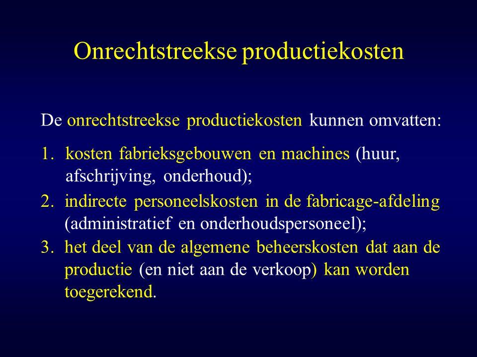 Onrechtstreekse productiekosten