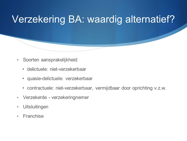 Verzekering BA: waardig alternatief