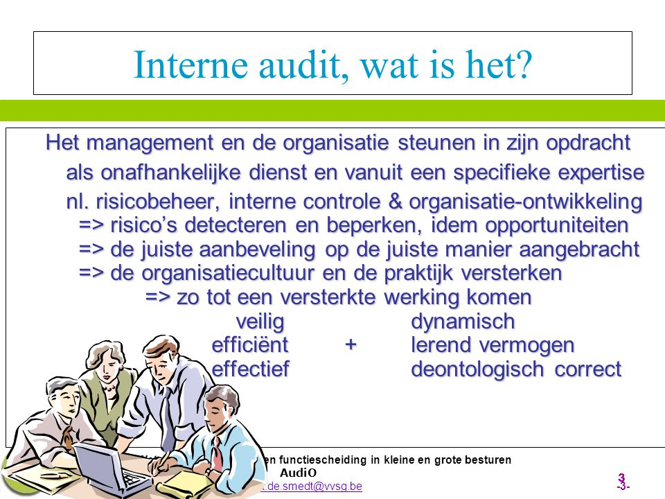 Interne audit, wat is het