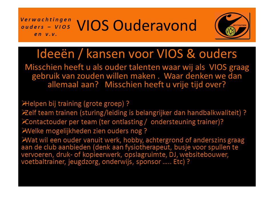 Verwachtingen ouders – VIOS en v.v.