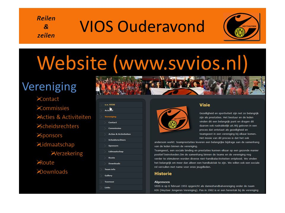 Website (www.svvios.nl)