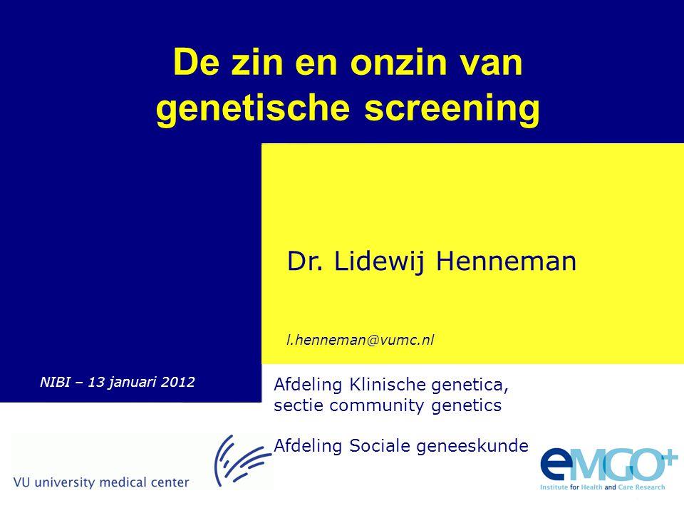 De zin en onzin van genetische screening