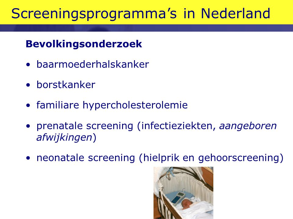 Screeningsprogramma's in Nederland