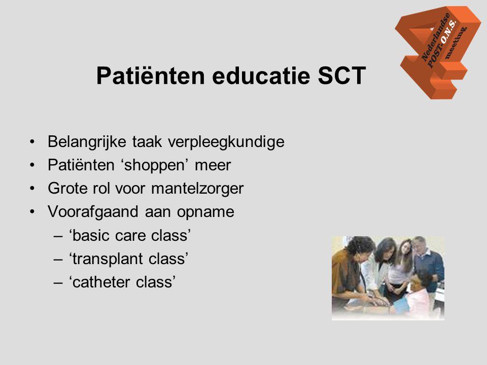 Patiënten educatie SCT