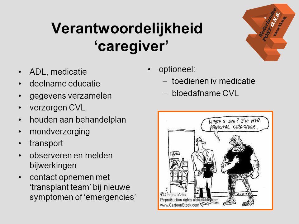 Verantwoordelijkheid 'caregiver'