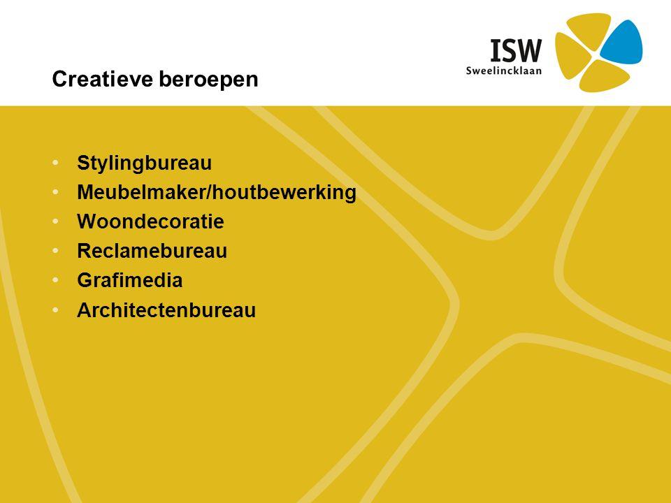 Creatieve beroepen Stylingbureau Meubelmaker/houtbewerking
