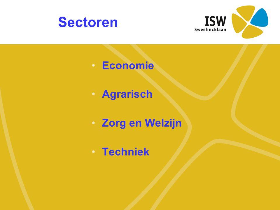 Sectoren Economie Agrarisch Zorg en Welzijn Techniek