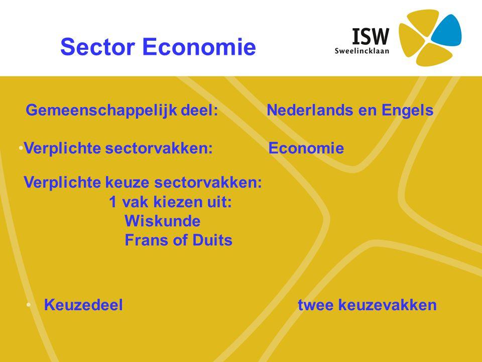 Sector Economie Gemeenschappelijk deel: Nederlands en Engels