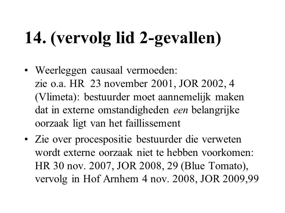 14. (vervolg lid 2-gevallen)