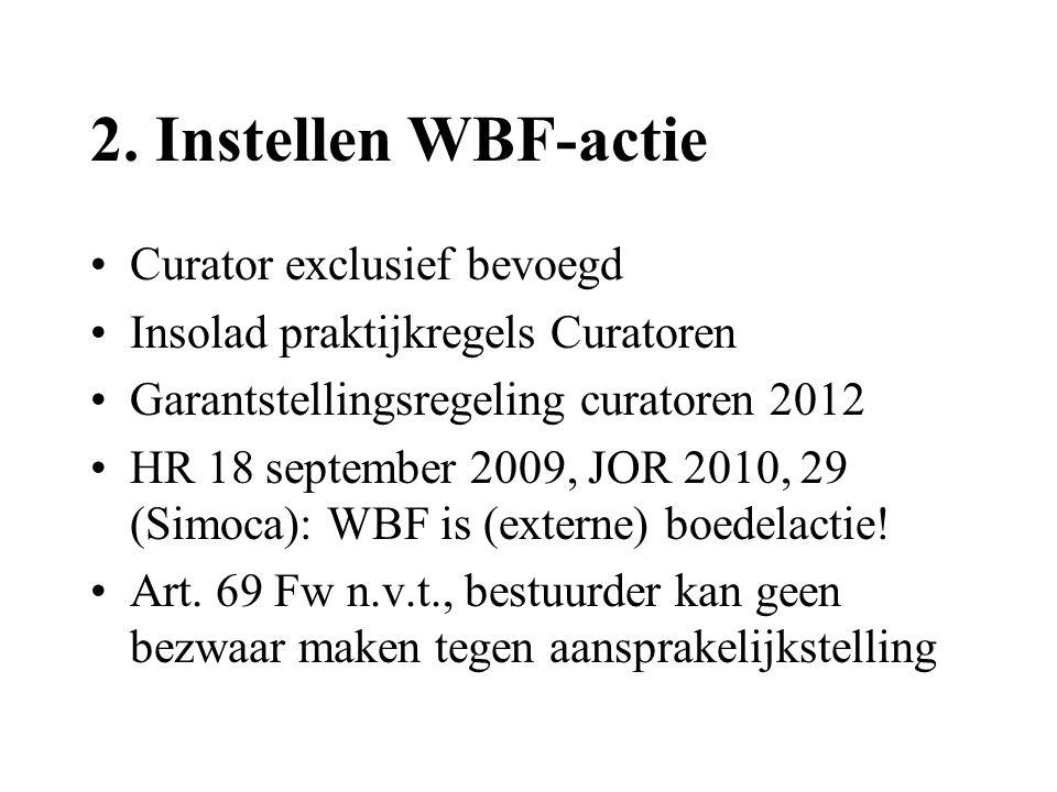 2. Instellen WBF-actie Curator exclusief bevoegd