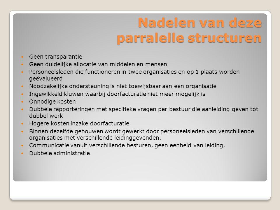 Nadelen van deze parralelle structuren