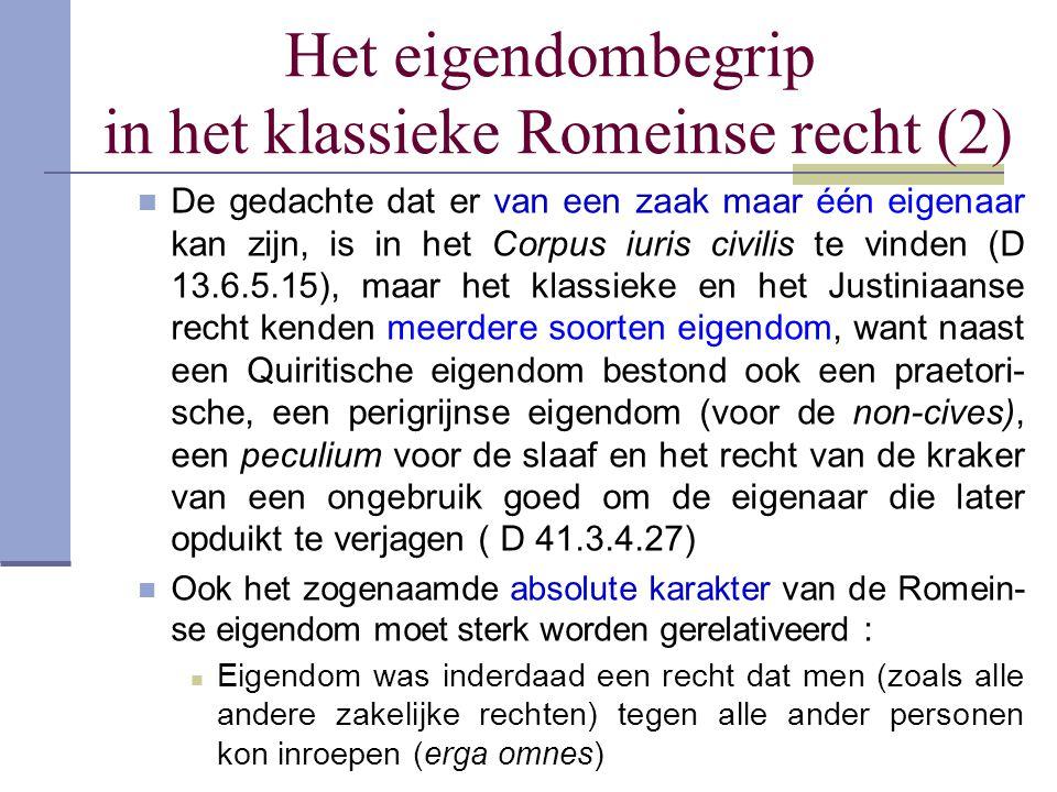Het eigendombegrip in het klassieke Romeinse recht (2)