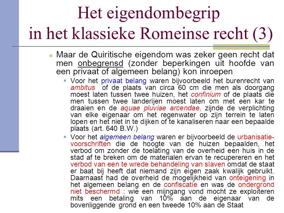 Het eigendombegrip in het klassieke Romeinse recht (3)