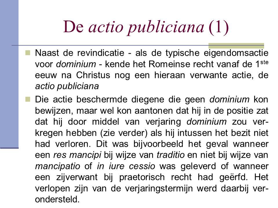 De actio publiciana (1)
