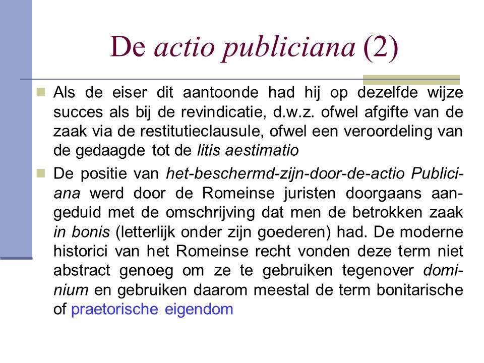 De actio publiciana (2)