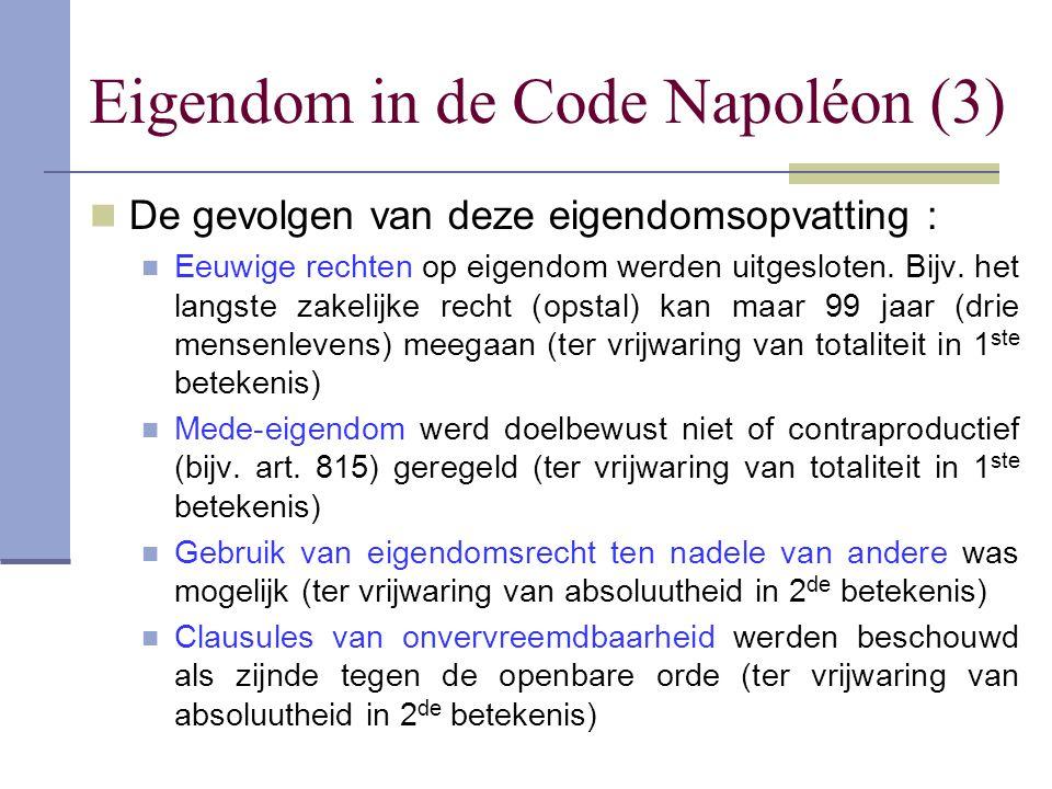 Eigendom in de Code Napoléon (3)