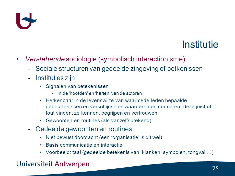 Concept 'institutie' en paradigma's (3)
